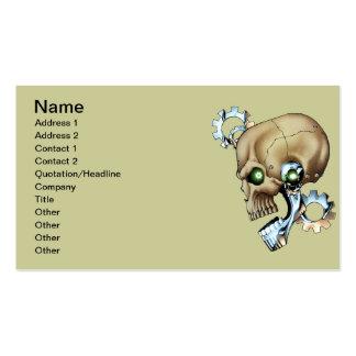 Alien Robot Skull from the Future in Chrome + Bone Business Card