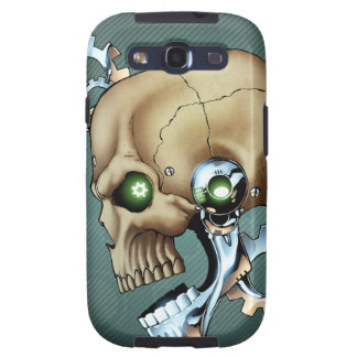 Alien Robot Skull from the Future in Chrome + Bone Galaxy SIII Covers