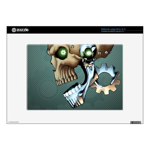 Alien Robot Skull from the Future in Chrome + Bone Skin For Netbook