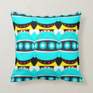 Alien robots throw pillow