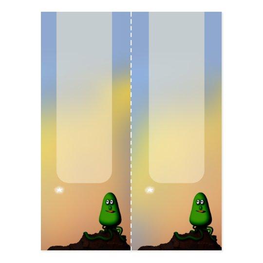 Alien Rock Pod, 2x bookmarks postcard