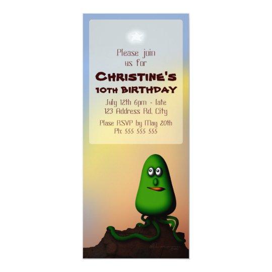 Alien Rock Pod, 4x9.25 birthday Card