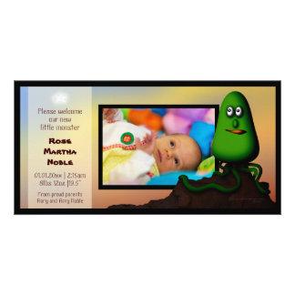 Alien Rock Pod, birth announcement photocard Photo Greeting Card
