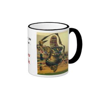 Alien rock rhythm ringer coffee mug