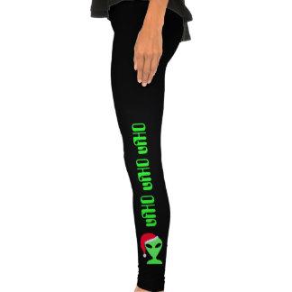 Alien Santa Art Funny Geek Christmas Legging Pants