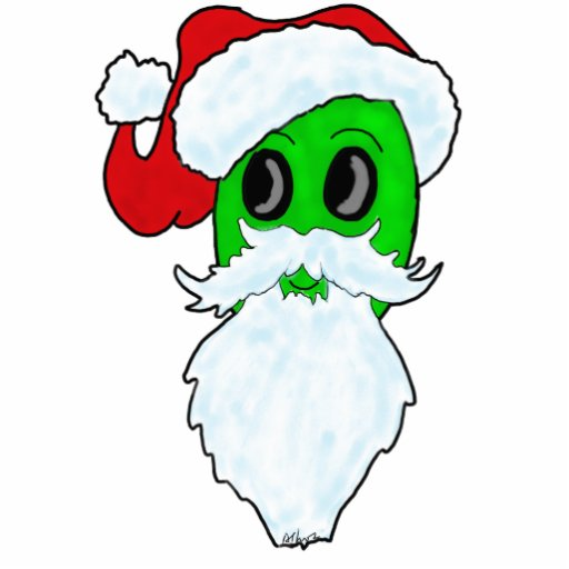 Alien Santa Christmas Tree Ornament Cut Outs Zazzle