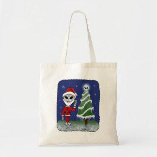 Alien Santa Tote Bag