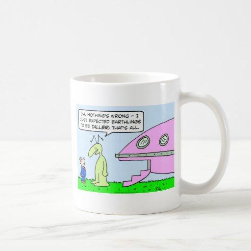 alien saucer earthling taller expected mugs