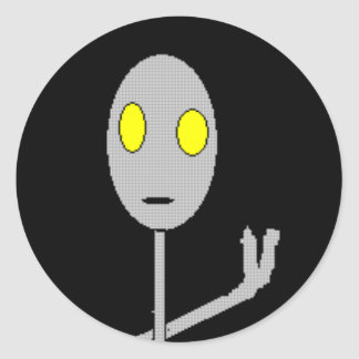 Alien says peace or something sticker