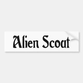 Alien Scout Bumper Sticker