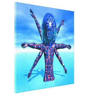 Alien Sculpture Gallery Wrapped Canvas