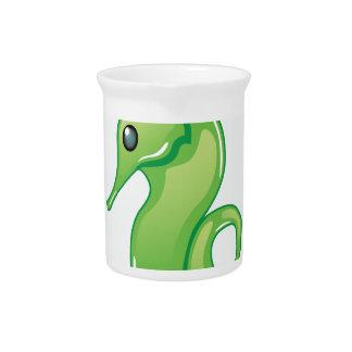 Alien SeaHorse Vector Drink Pitcher
