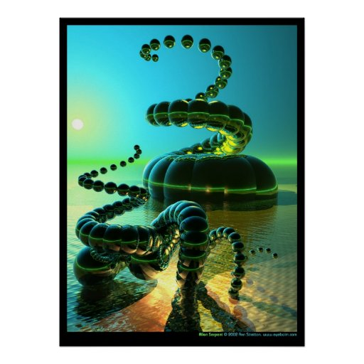 Alien Serpent Poster