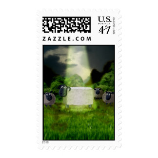 Alien Sheep Experiment Postage
