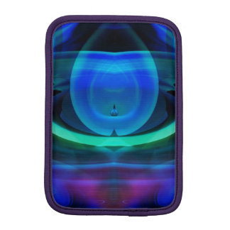 Alien Ship in Blue Flame iPad Mini Sleeve