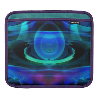 Alien Ship in Blue Flame iPad Sleeve