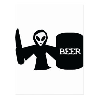 alien shotgun postcard
