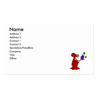 Alien showing off prize plant Double-Sided standard business cards (Pack of 100)