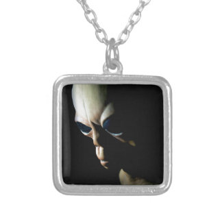 Alien Silver Plated Necklace