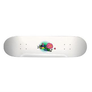 Alien Sister Hugging Brother Skateboard