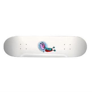 Alien Sister Relaxing in inner tube Skateboard