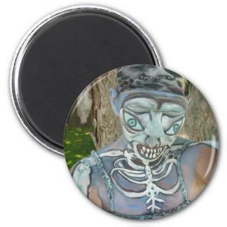 Alien Skeleton Paintings From Body Art! Bodypaint Refrigerator Magnets