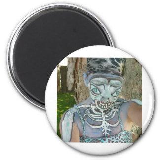 Alien Skeleton Paintings From Body Art Bodypaint Magnet