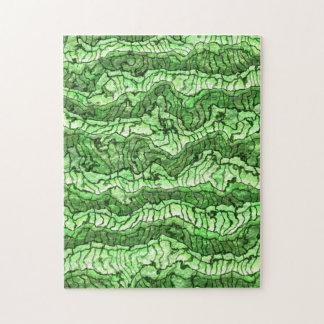 alien skin green jigsaw puzzle