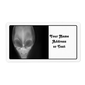 Alien Skull X-ray Shipping Label