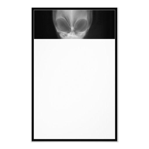 Alien Skull X-ray Stationery