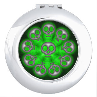 Alien Skulls compact mirror