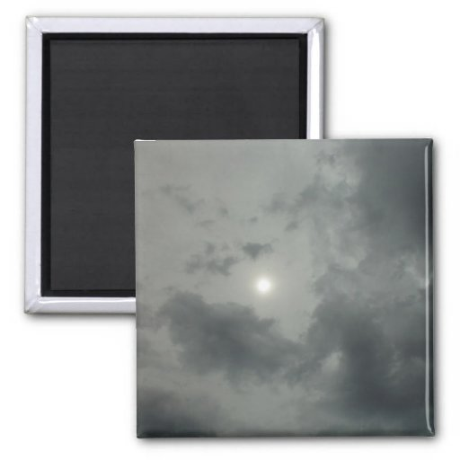 """Alien Sky"" Hazy Sun Through Two Layers Of Cloud A Refrigerator Magnet"