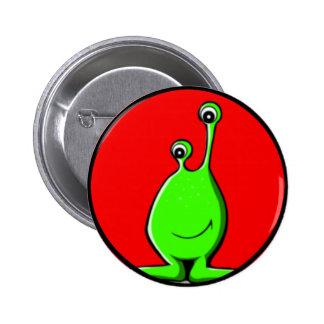 Alien Slime Creature 2 Inch Round Button