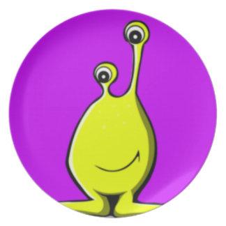 Alien Slime Creature Dinner Plate