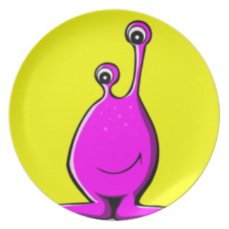 Alien Slime Creature Melamine Plate
