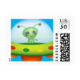 Alien Small stamp