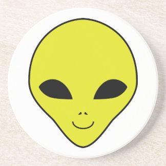 Alien Smiley Face Beverage Coaster