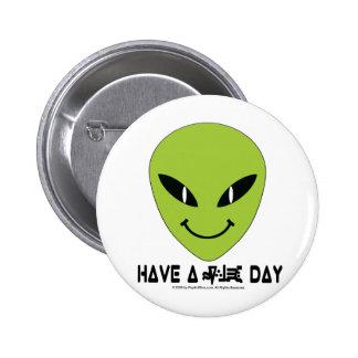 Alien Smiley Face Pin