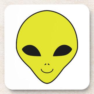 Alien Smiley Face Coasters