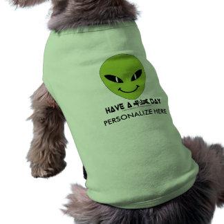 Alien Smiley Face Doggie Tee Shirt