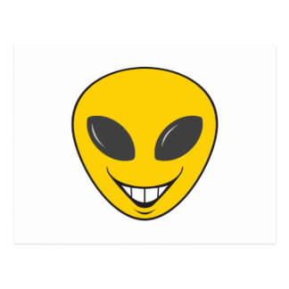 Alien Smiley Face Postcards