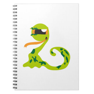 Alien Snake Spiral Note Book