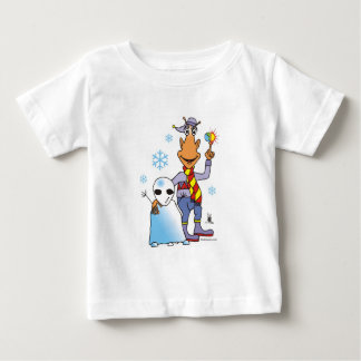 Alien Snow Fun by Gregory Gallo Baby T-Shirt