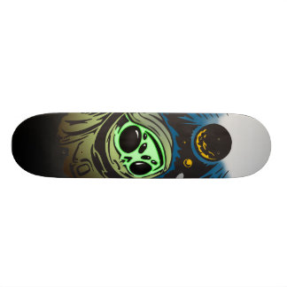 Alien Space Exploration Skateboard Deck