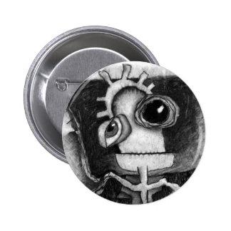 alien space head. pin