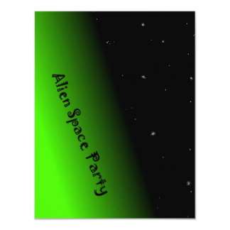 Alien Space Party For Boys Custom Invitation