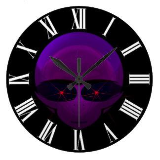 Alien Space Pilot Fun E.T. Sci-fi Wall Clock
