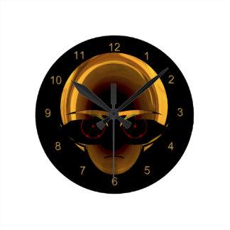 Alien Space Pilot Fun Sci-fi Wall Clock