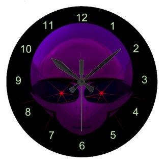 Alien Space Pilot Sci-fi Wall Clock