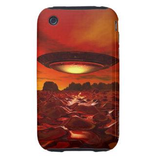 Alien spacecraft over an alien planet, computer iPhone 3 tough cover